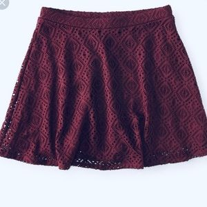 Cape Juby All Over Lace Burgundy Skirt
